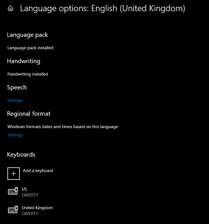 temporary english UK and US keyboards